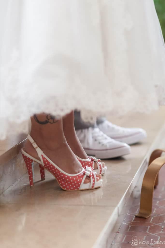 Chaussures mariés converse