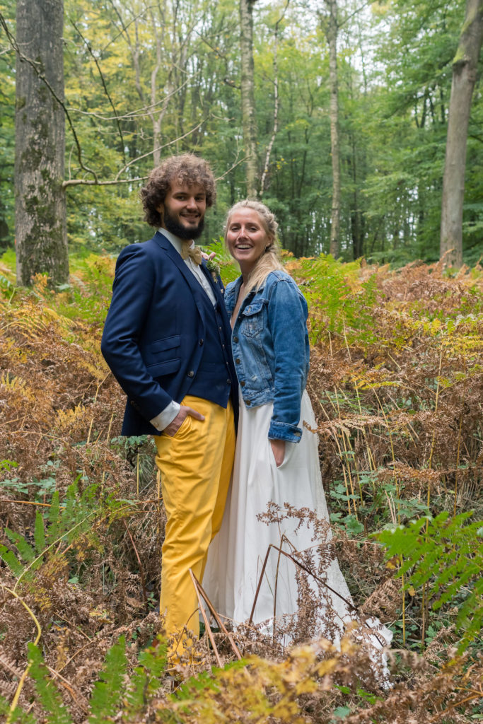 séance photo en forêt mariage bohème