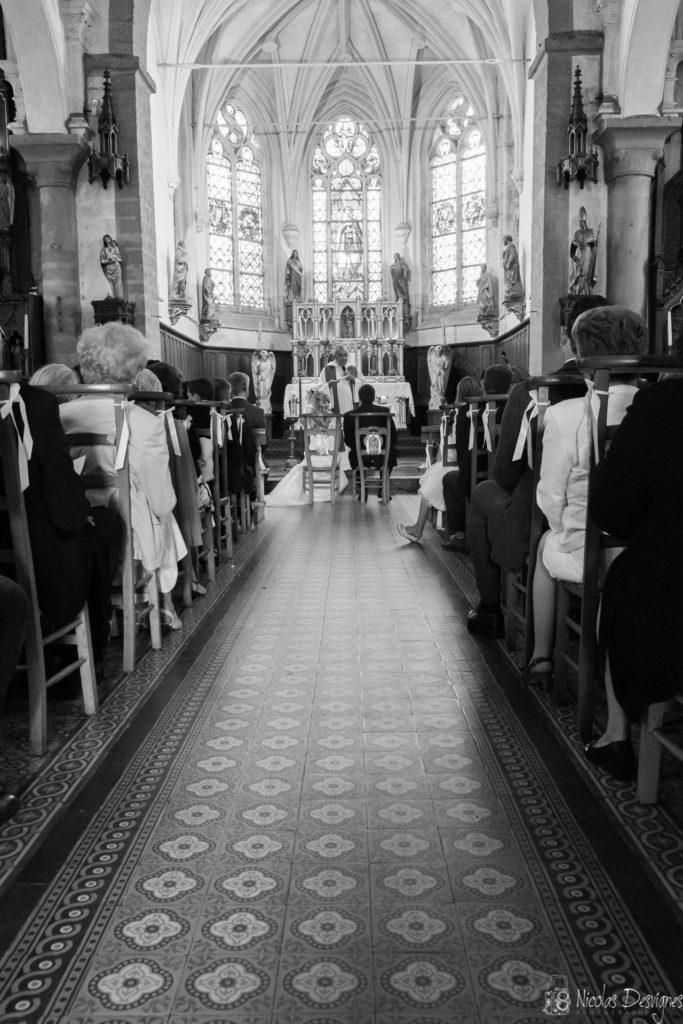 vue d'ensemble église mariage Houchain