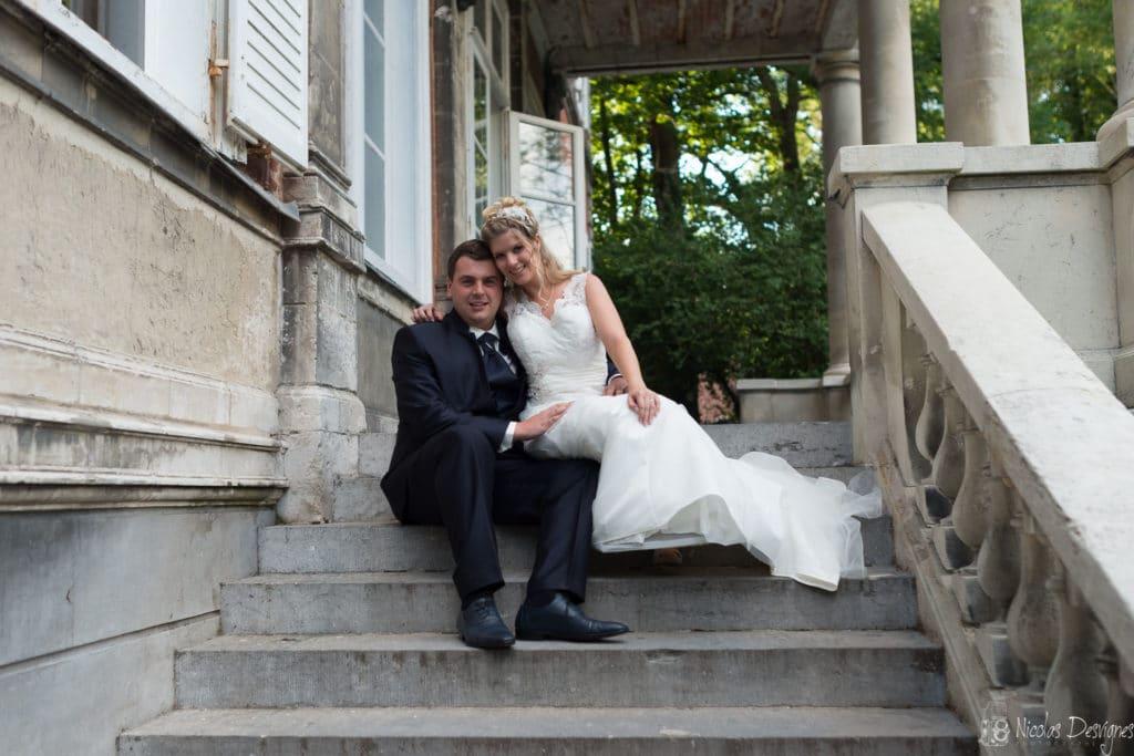 couple mariés chateau