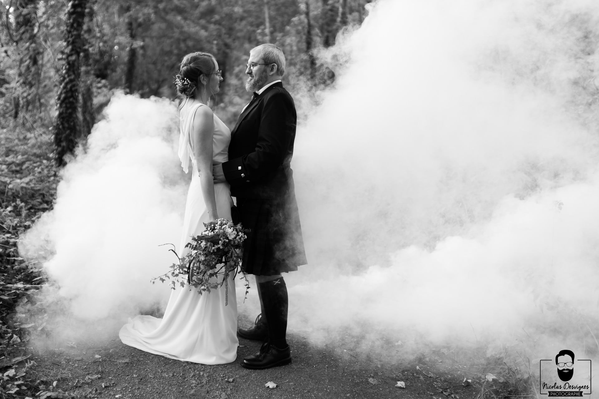 mariage Douai kilt fumigène
